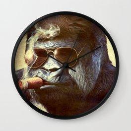Gorilla in the Mist Wall Clock
