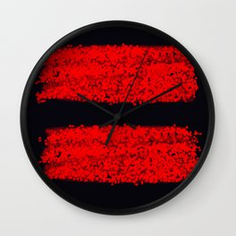 traces rouges Wall Clock