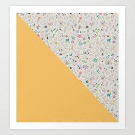 Pez Otomi yellow by Ana Kane Art Print
