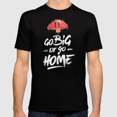 Go Big or Go Home Mario Inspired Smash Art MEDIUM Black Mens Fitted Tee
