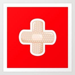 First Aid Plaster Art Print