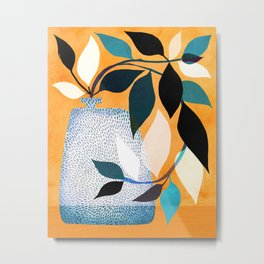Ivy In The Courtyard Metal Print