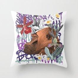 Graffiti Gorilla Jungle Monkey Throw Pillow
