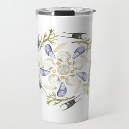 Tide Pool Beach Mandala 1 - Watercolor Travel Mug