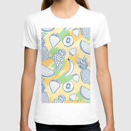 left here hand drawing pattern T-shirt