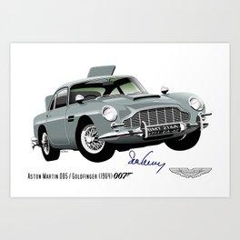 Aston Martin DB5 from Goldfinger Art Print