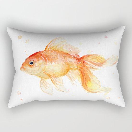 Goldfish Watercolor Fish Rectangular Pillow