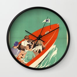 Lake Winnipesaukee - Vintage Poster Wall Clock