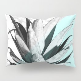 Pineapple Top Marble Pastel Blue Pillow Sham