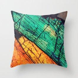 Epidote and Quartz Throw Pillow