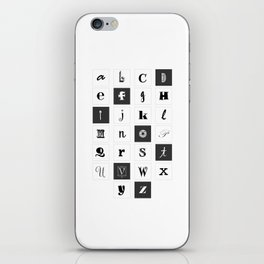 Alphabet Print iPhone Skin