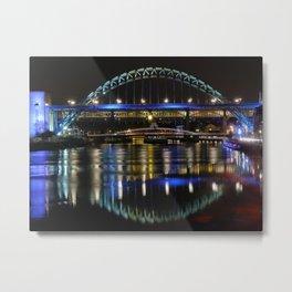 Night bright at Newcastle Metal Print
