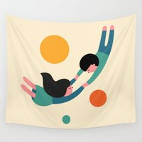let it go Wall Tapestries featuring Won't Let Go by Andy Westface