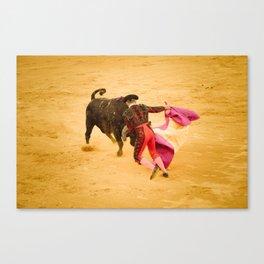 Corrida portugaise torero Canvas Print