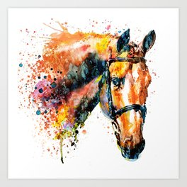 Colorful Horse Head Art Print