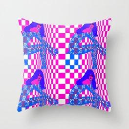 Mod- Blue Throw Pillow