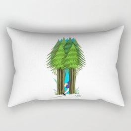 go to forest Rectangular Pillow
