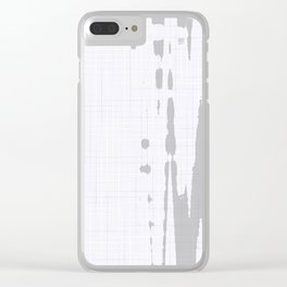 Grey dirt on white tiles background Clear iPhone Case