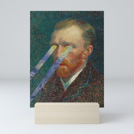 Star in Your Eyes-Vincent Van Gogh Starry Night and Self Portrait Mini Art Print