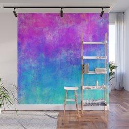 Neon Galaxy Watercolor Wall Mural