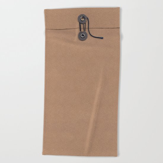Camo Series - kraft envelope Beach Towel