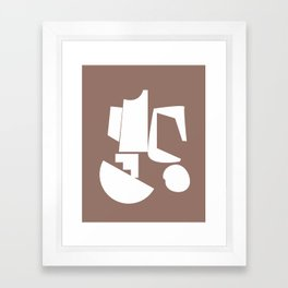 Shape study #17 - Inside Out Collection Framed Art Print