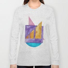 180818 Geometrical Watercolour 2 Long Sleeve T-shirt