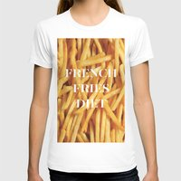 french fries T-shirts featuring French Fries Diet by Coconuts & Shrimps