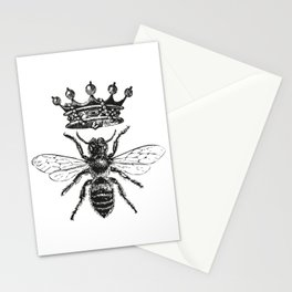 Queen Bee | Black and White Stationery Cards