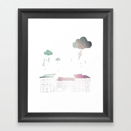 Ongi Etorri, rain Framed Art Print