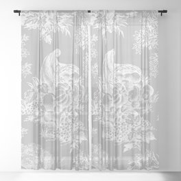 toile tradition grey Sheer Curtain