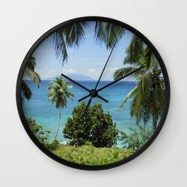 Terese island, the Seychelles Wall Clock