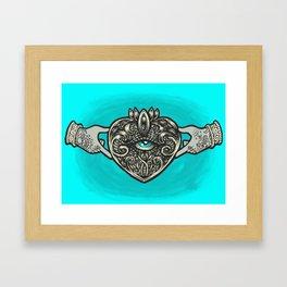 Claddagh Eye Framed Art Print