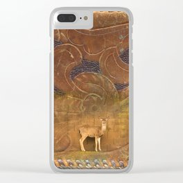 Deer Sheltering in the Storm Clear iPhone Case