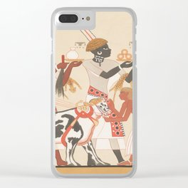 Vintage Egyptian illustration Clear iPhone Case