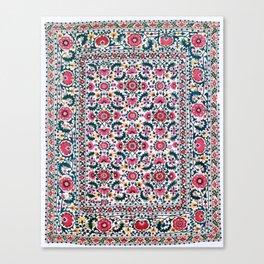 Shakhrisyabz Suzani Uzbekistan Embroidery Canvas Print