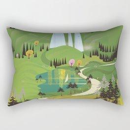 Bavaria Germany travel poster Rectangular Pillow