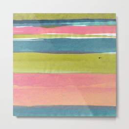Watercolorstripe Metal Print