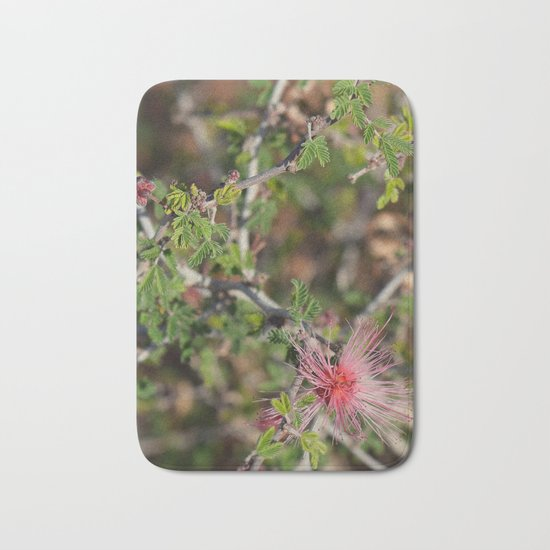 Desert Wildflower Bush Bath Mat