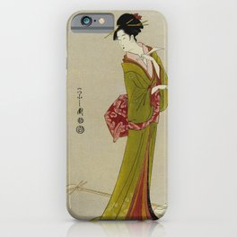 Itsutomi - Vintage Japanese Woodblock iPhone Case