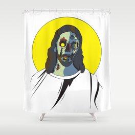 Zombie Jesus Shower Curtain