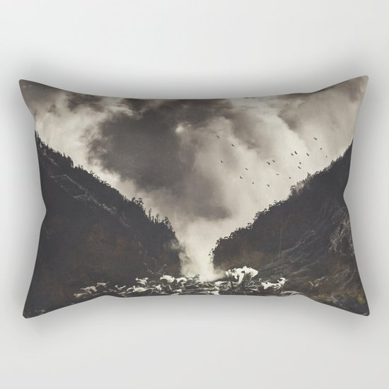 Madeira- Rising Clouds and Calla Lillys Rectangular Pillow