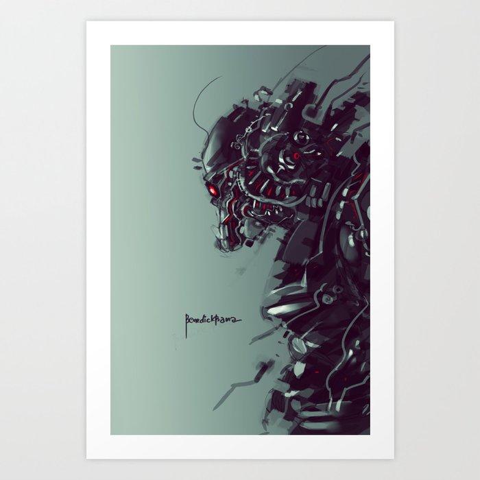 Blocker Art Print