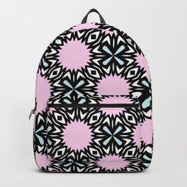 Geometric Pattern - Pink & Light Blue Backpack