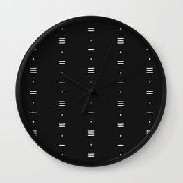 Minimalist Pattern 01 - Black Wall Clock