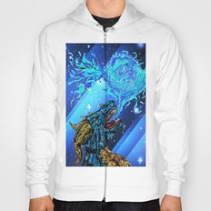 blue dragon fire artist Hoody