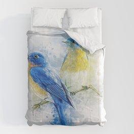 Kissing Birds Comforters