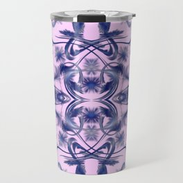 lilac Digital pattern with circles and fractals artfully colored design for house and fashion Travel Mug