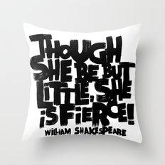 LITTLE FIERCE Throw Pillow