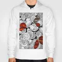 shells Hoodies featuring Shells by EmilyGrantDesign